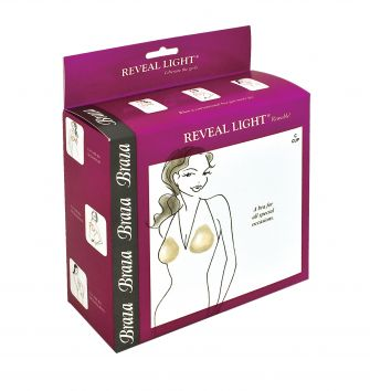 Braza - REVEAL LIGHT, push-up podprsenka bez ramienok (7810-26)